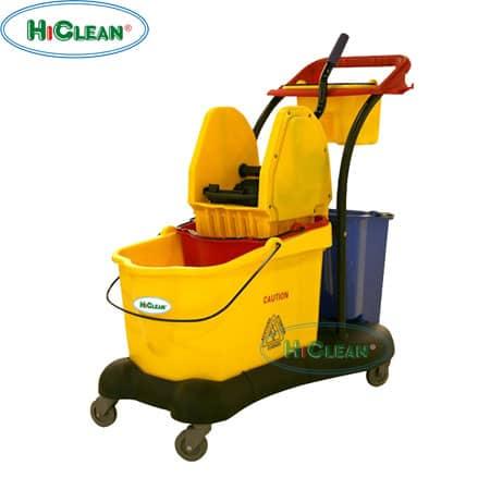 Xe đẩy vắt nước 2 xô HiClean HC 086